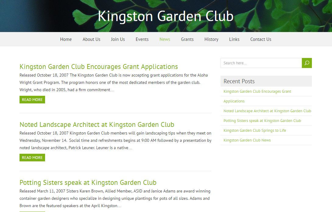 Kingston Garden Club News Page