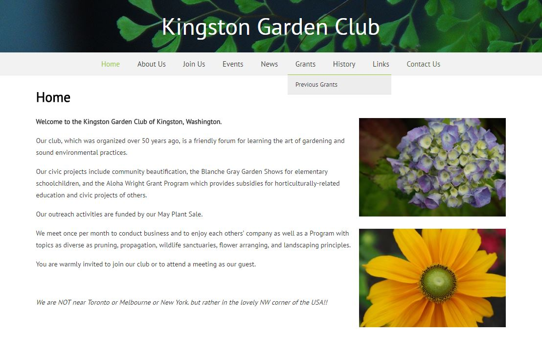 Kingston Garden Club Home Page